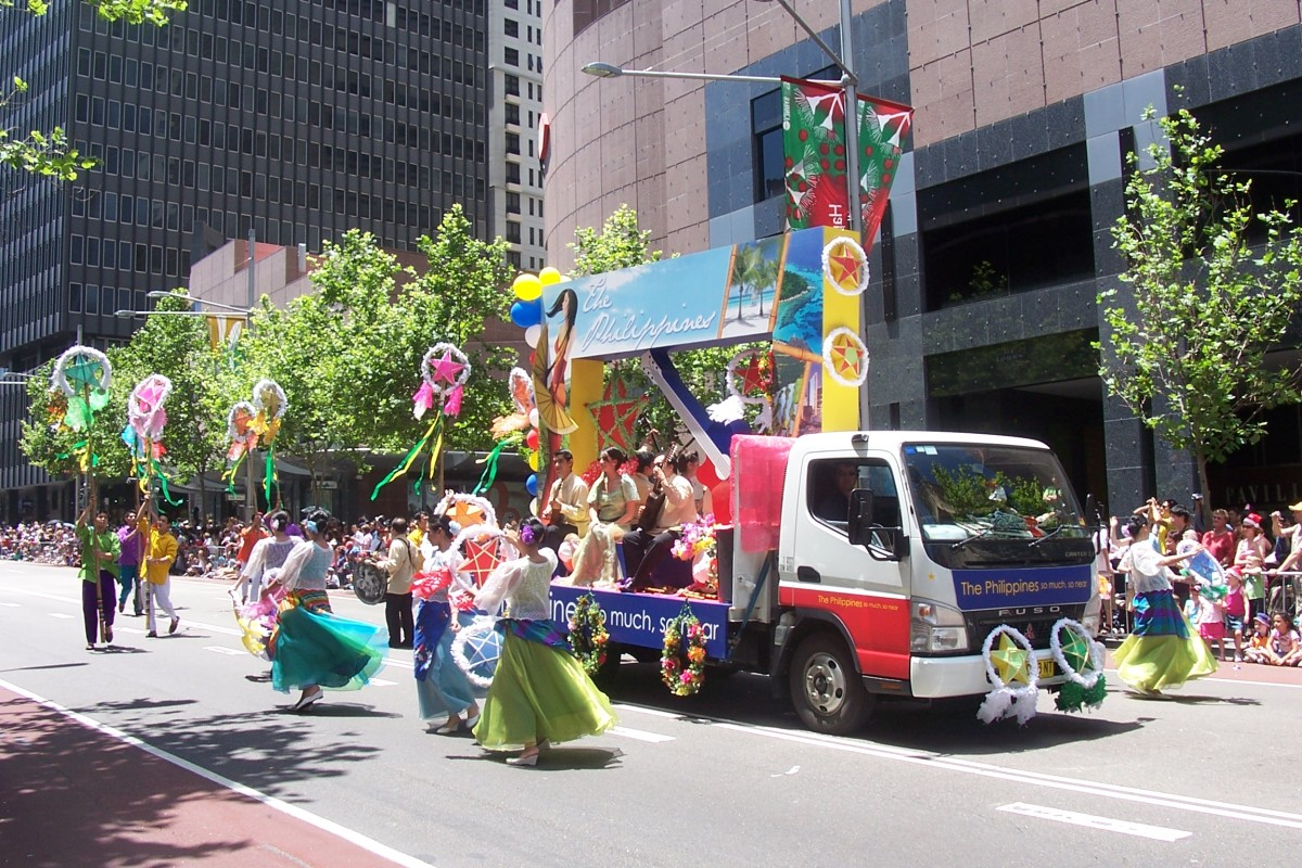 The Philippines' Float during the 2007 Sydney Christmas Parade.