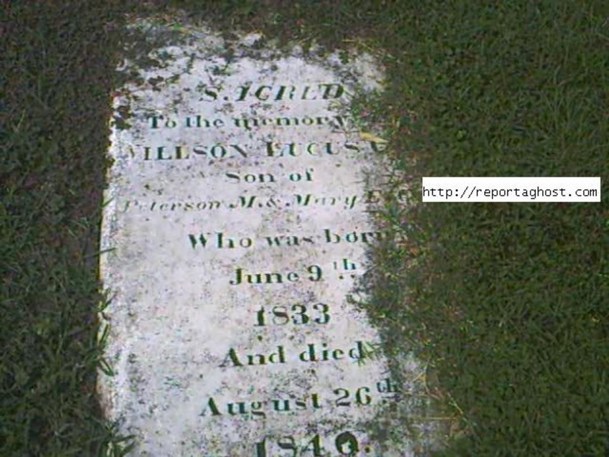 Grave of 7 Year Old Child