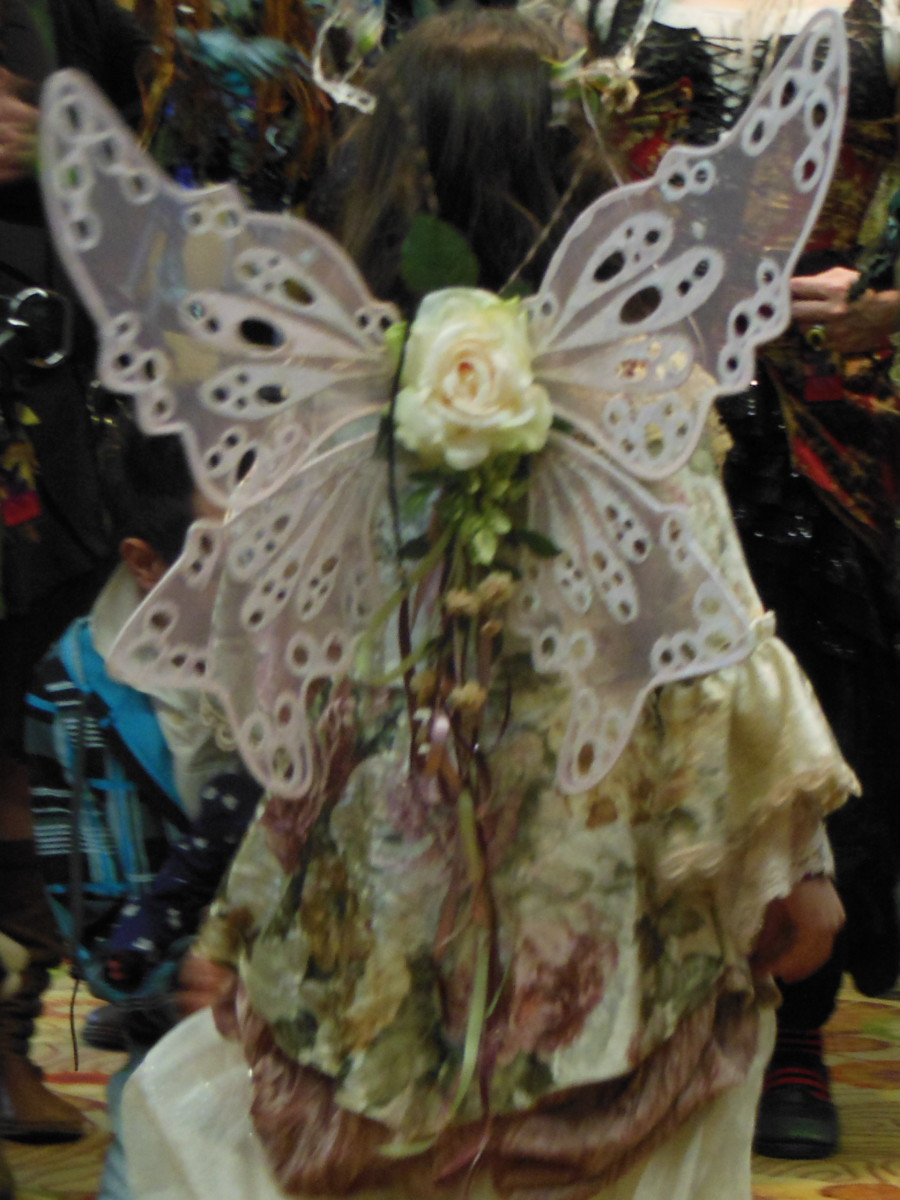 Beautiful wings in the costume contest from Faeriecon West