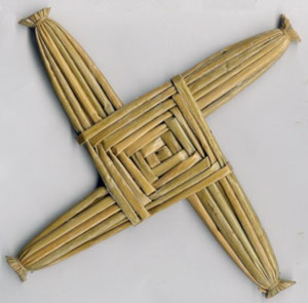 A traditional plated St Brigid's Cross