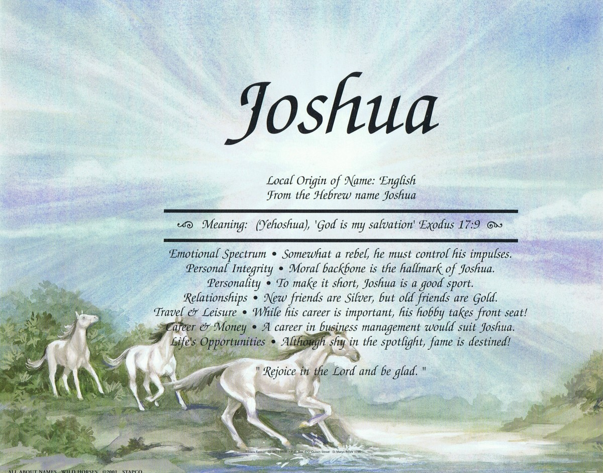 Joshua - Meaning God is my Salvation