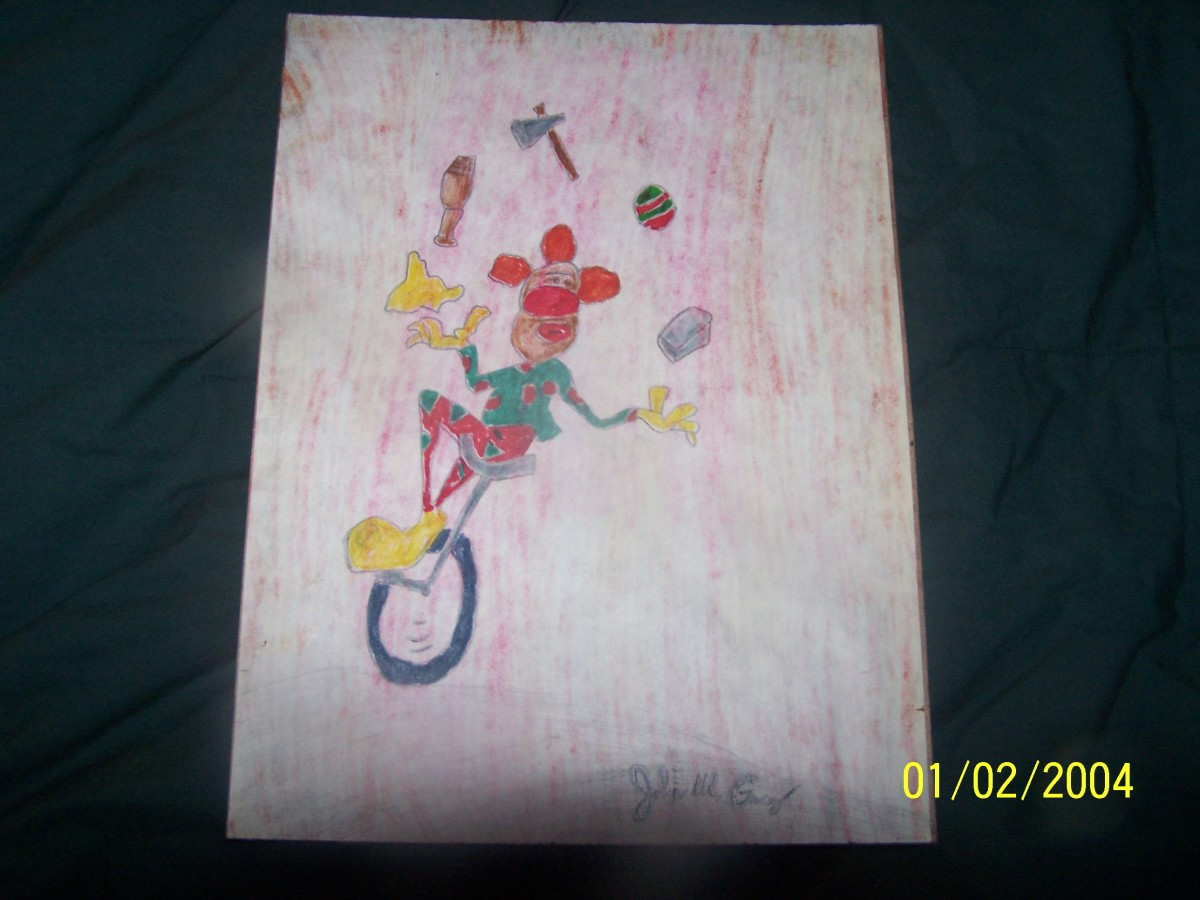 Real Artwork By John Wayne Gacy