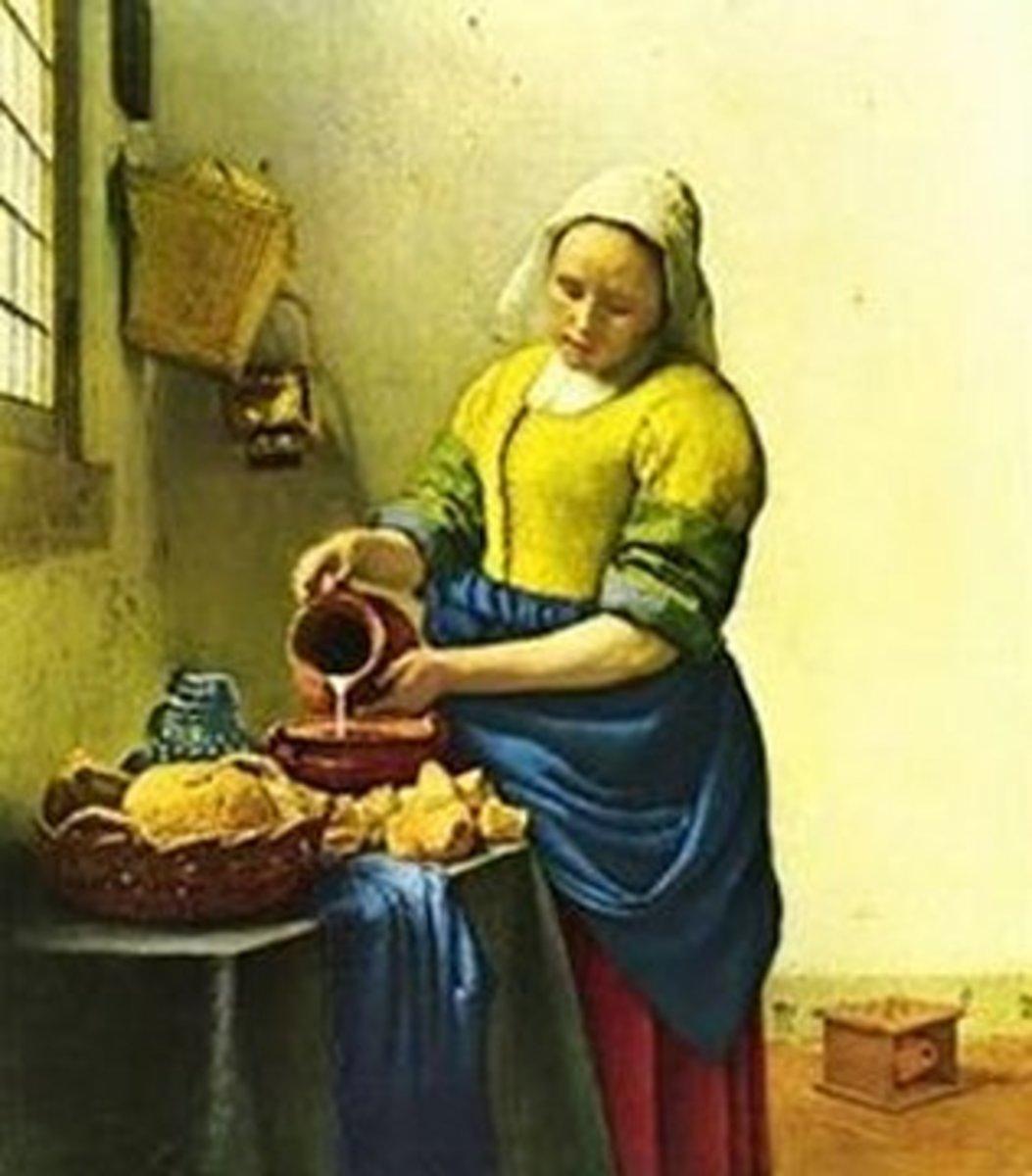 """""""The Milkmaid"""" by Jan Vermeer (1658-1660)"""