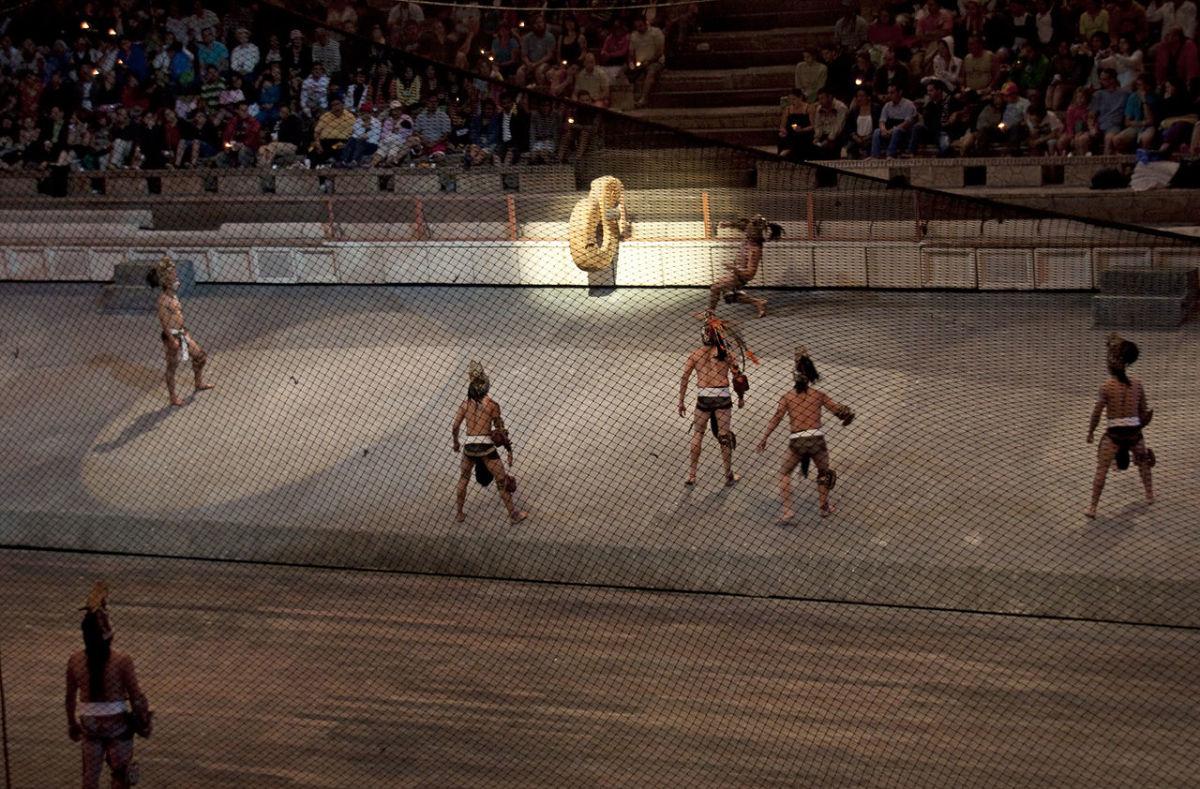 A modern game inside an arena.