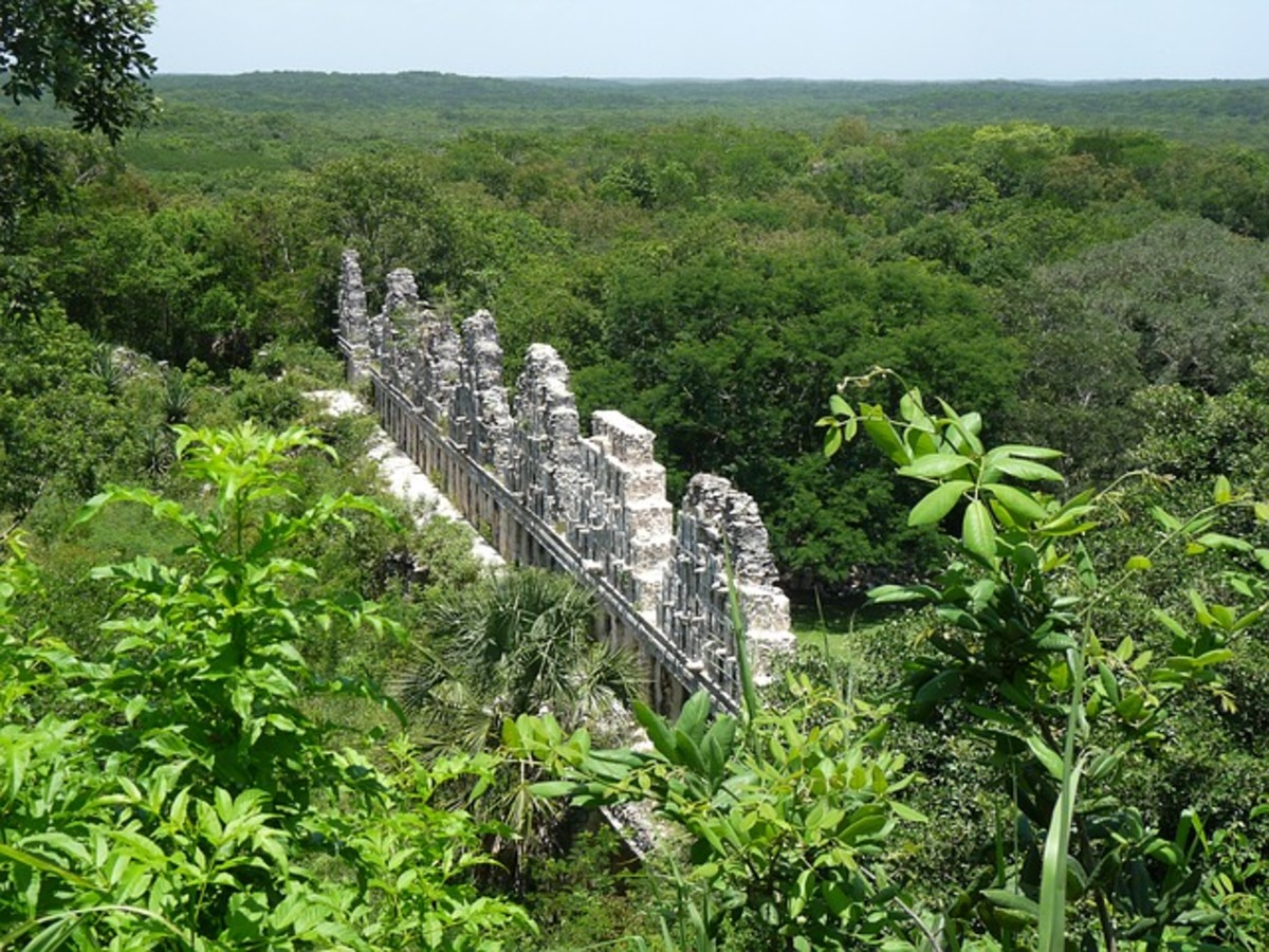 Maya ruins on the Yucatan Peninsula.