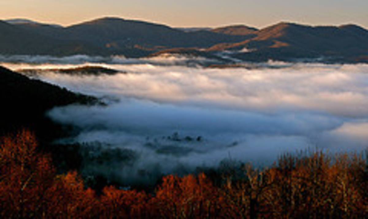 Morning in the Appalachian Mountains