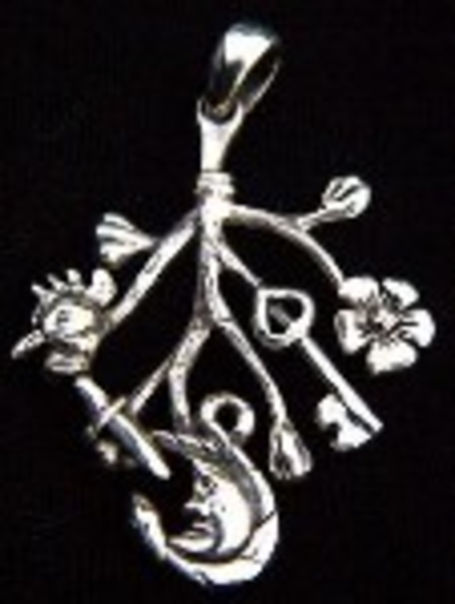 The Cimaruta Italian witch charm