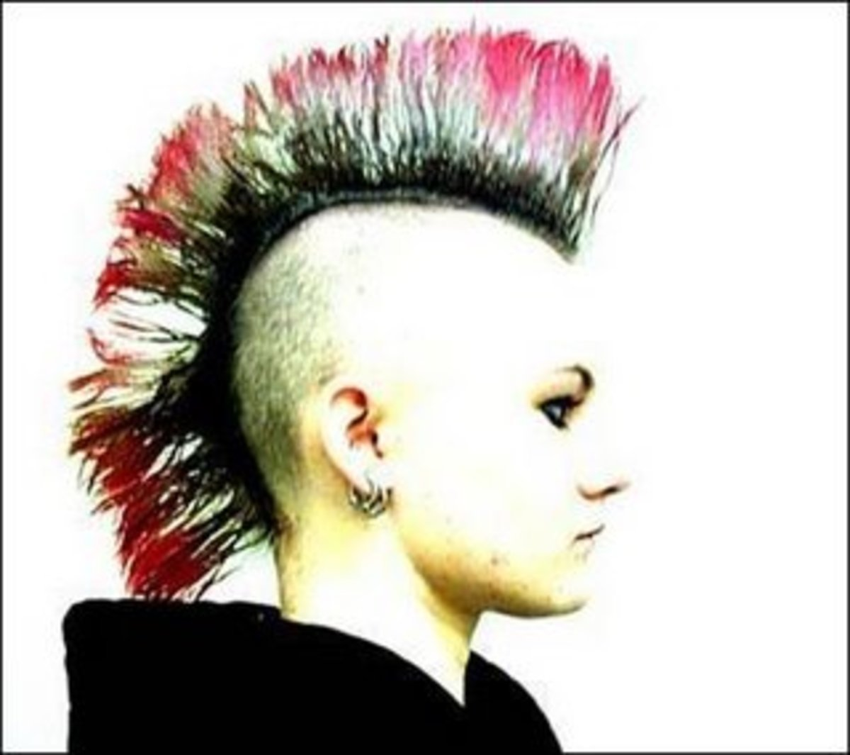 punk mohawk hair color trends