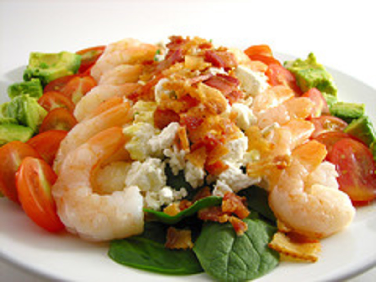 Shrimp in Green Salad (Photo from Flickr)