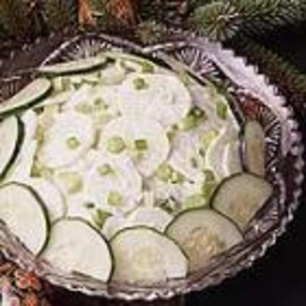 Sour Cream Cucumber Salad (from Allrecipes)