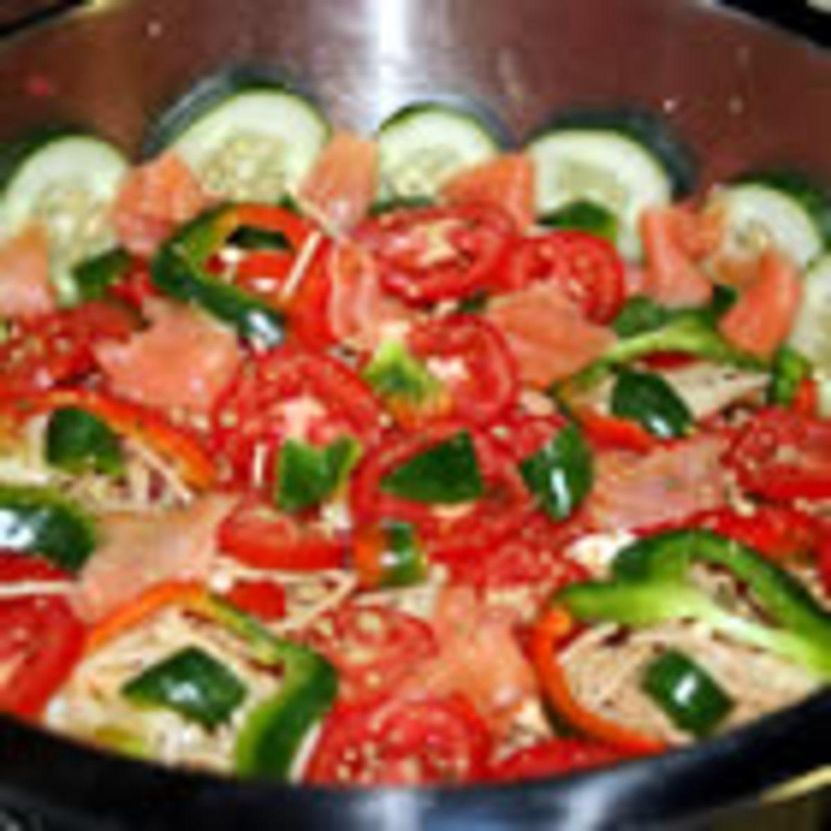 Smoked Salmon Pasta Salad (from Allrecipes)