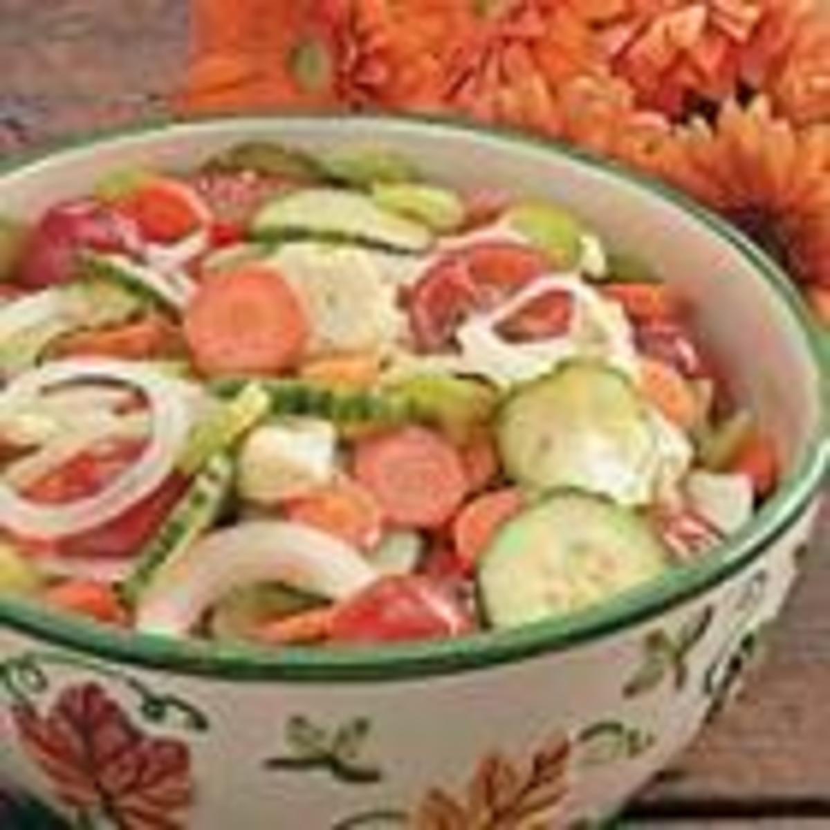 Fresh Vegetable Salad (from Allrecipes)