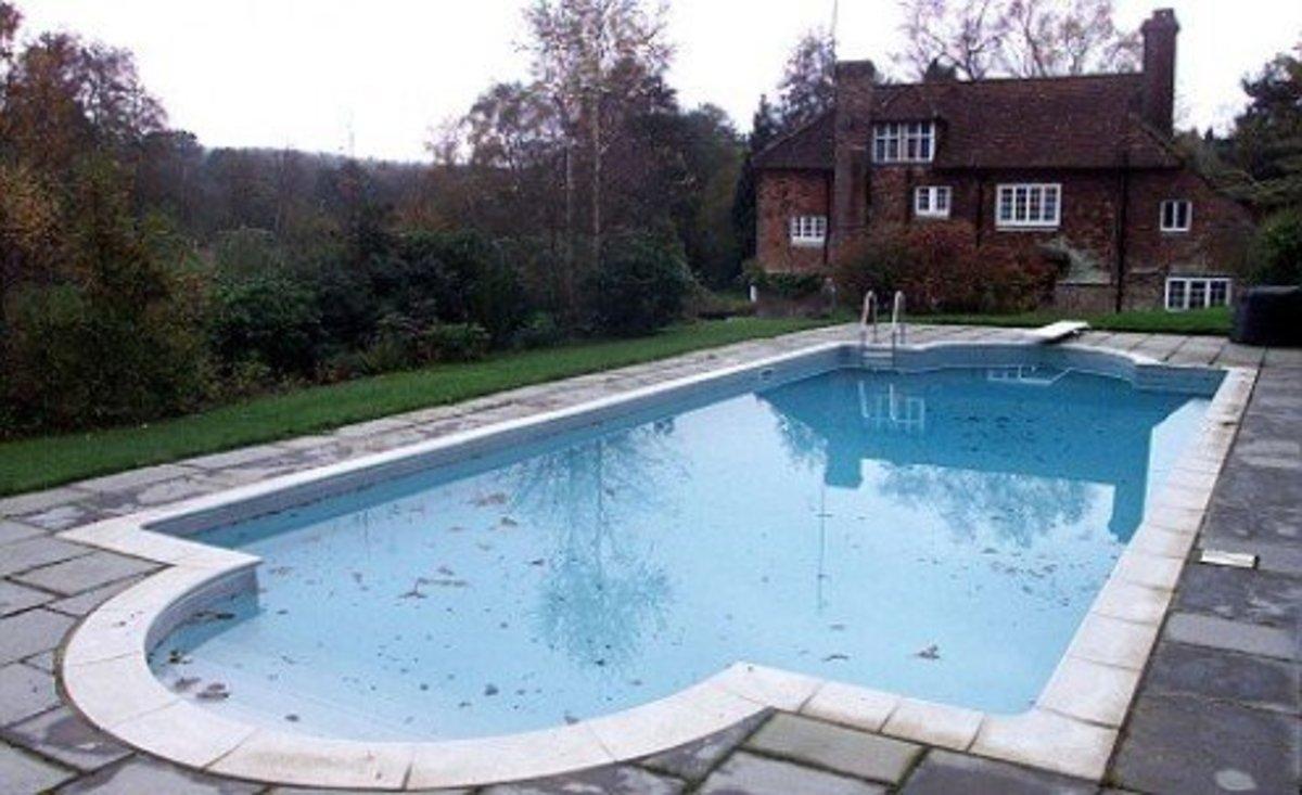The pool where Brian died
