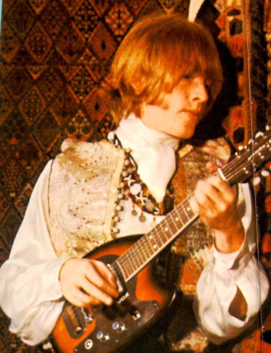 Brian playing 12-string electric mandolin