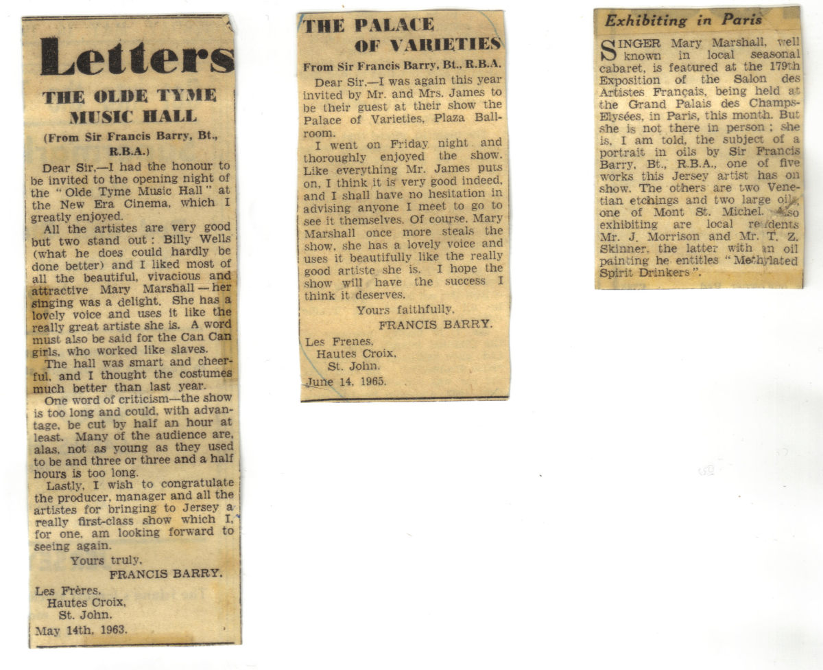 Newspaper Clippings From and Related to Sir Claude.