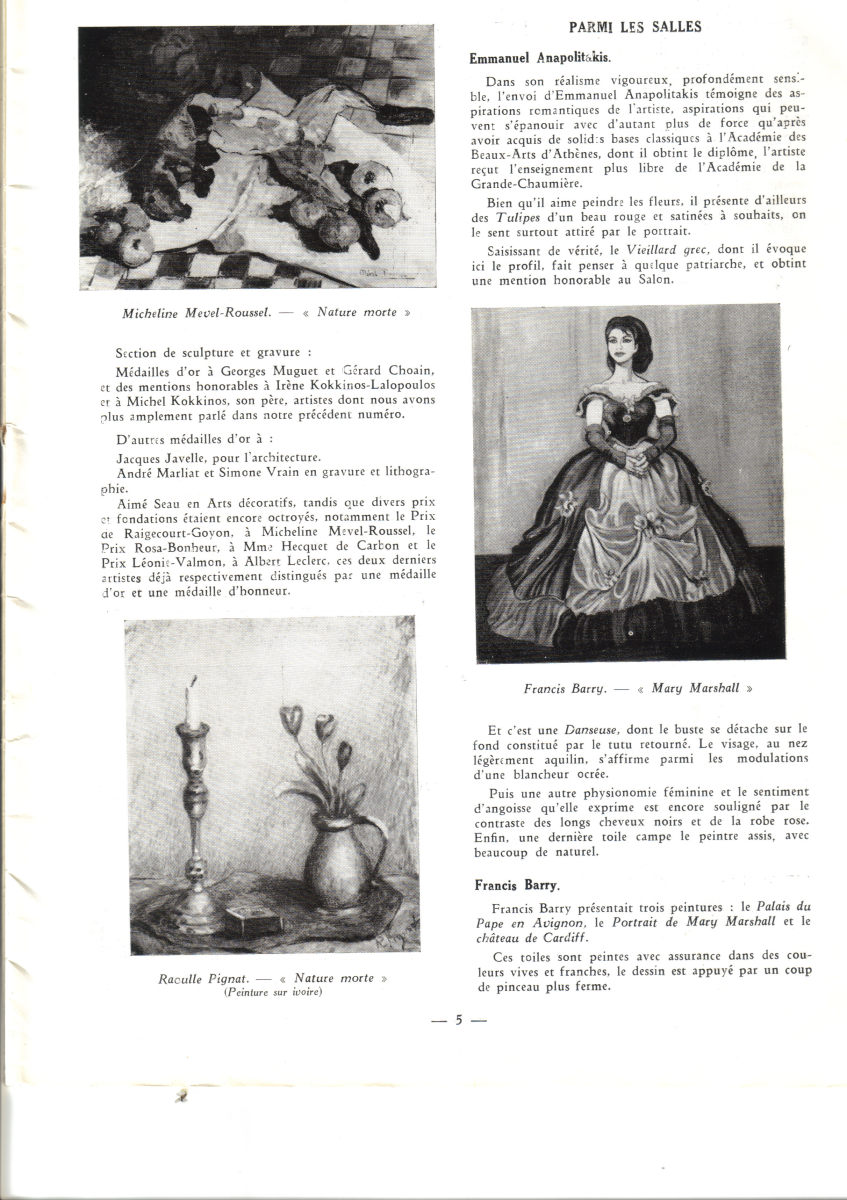 Paris Salon Catalogue Featuring Mary Marshall Portrait