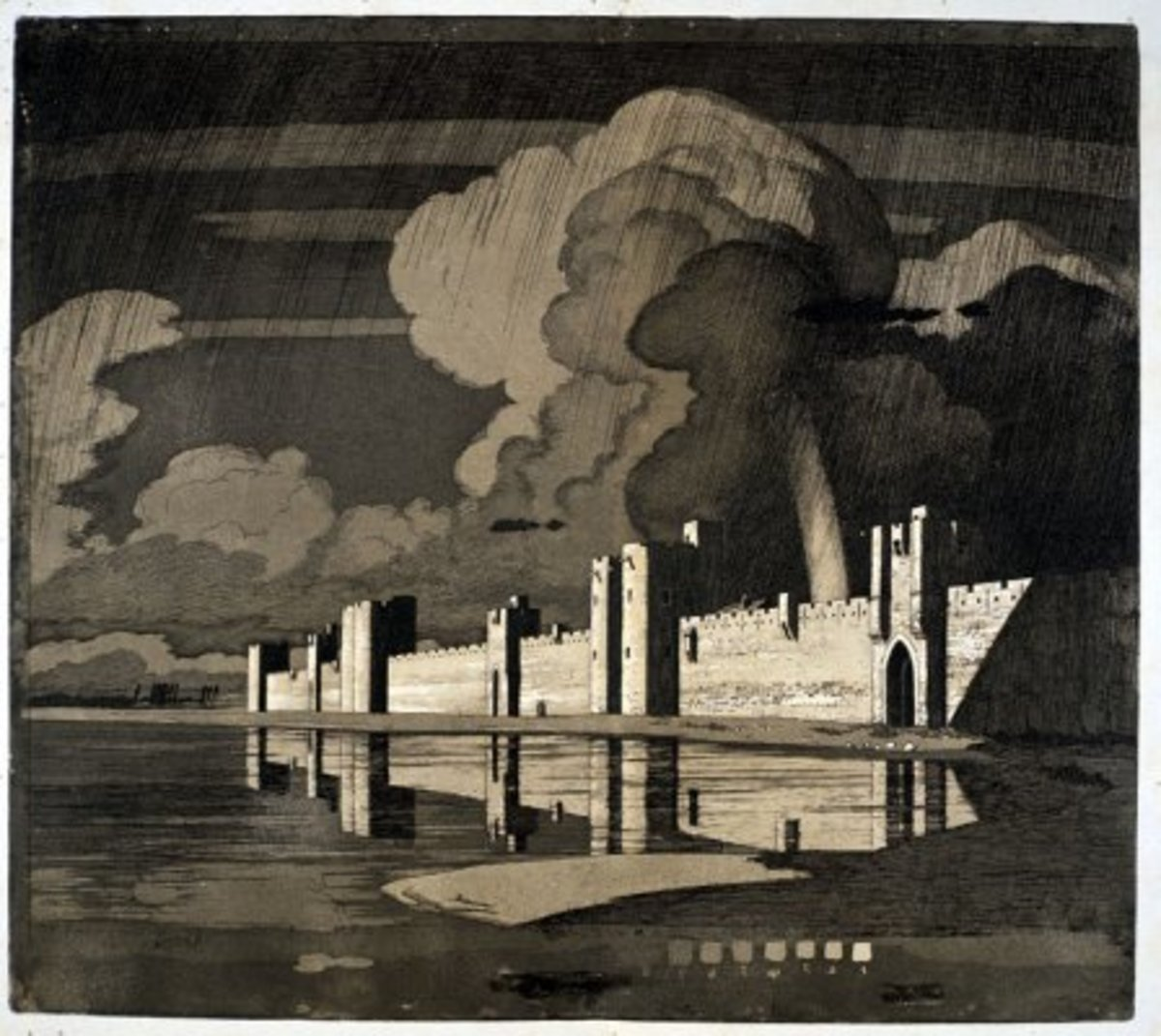 Aigues Mortes - etching