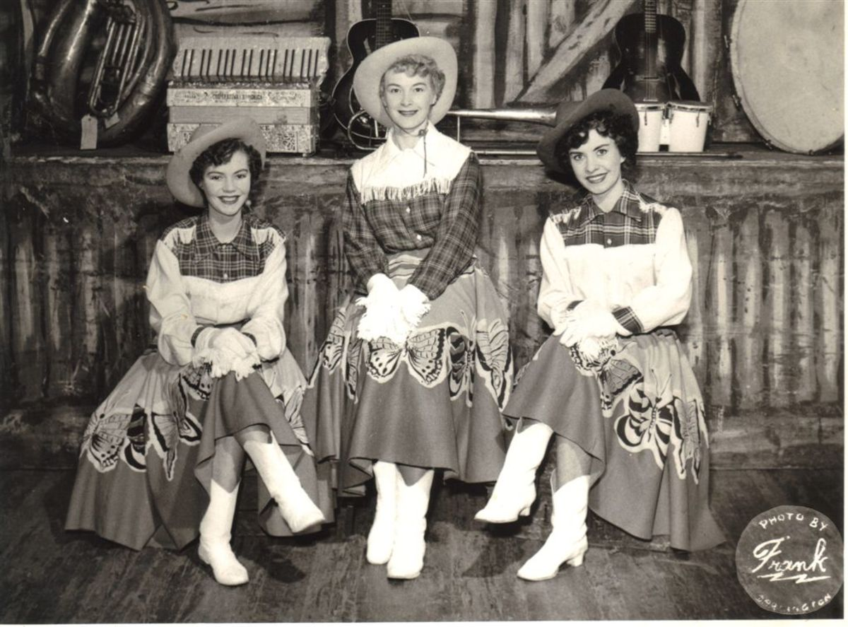"Mary (Right) with ""The Three Shades"""