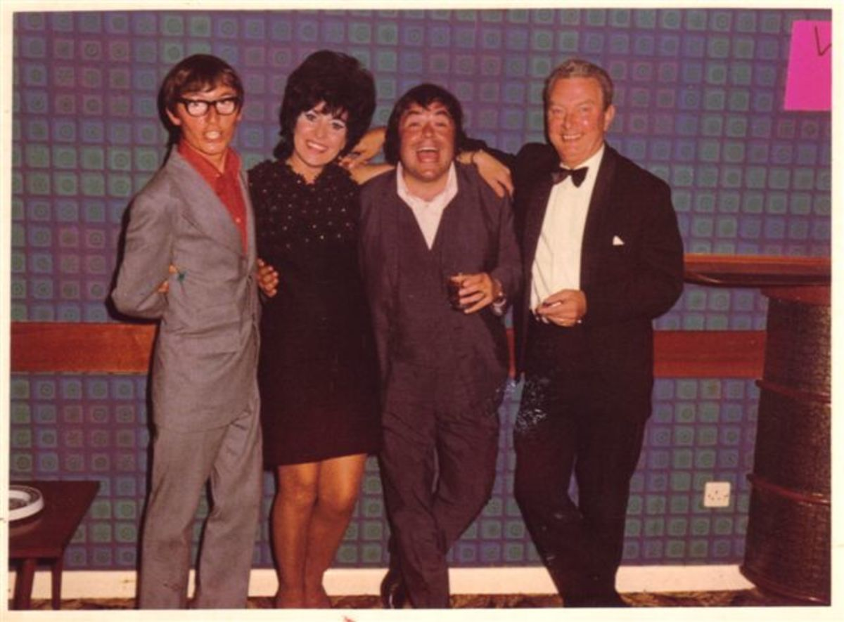 Mary and Sydney with Sid Little and Eddie Large