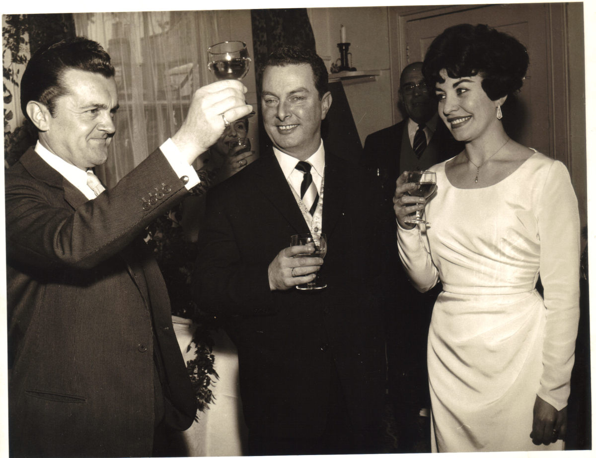 Left to Right, Ronnie Ronalde, Sydney James and Mary Marshall
