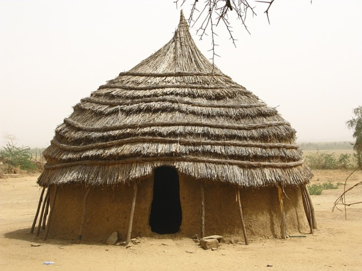 A cob home of mud and fiber in Niger, Africa.