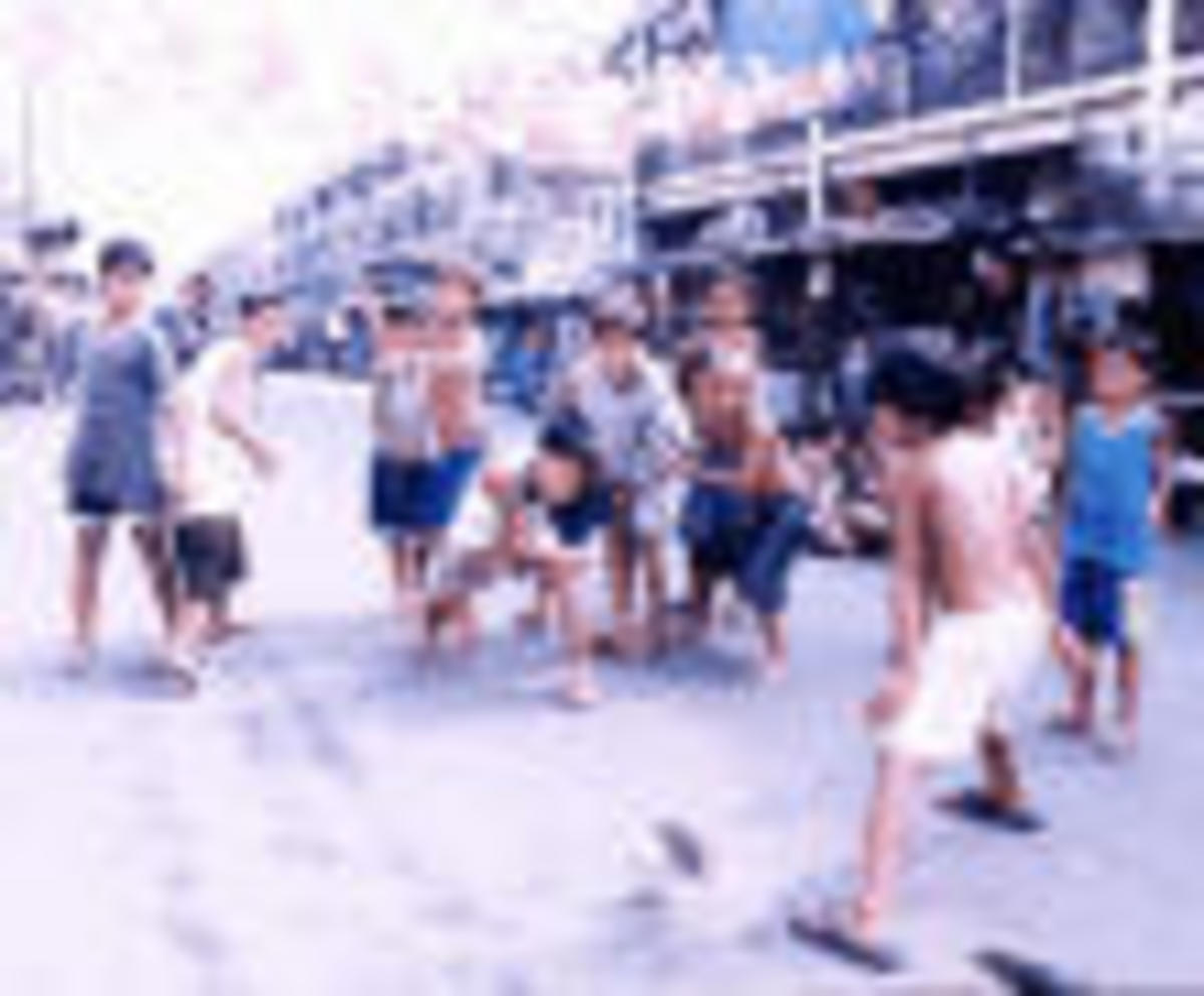 """tumbang preso""- All time Philippine children's game"