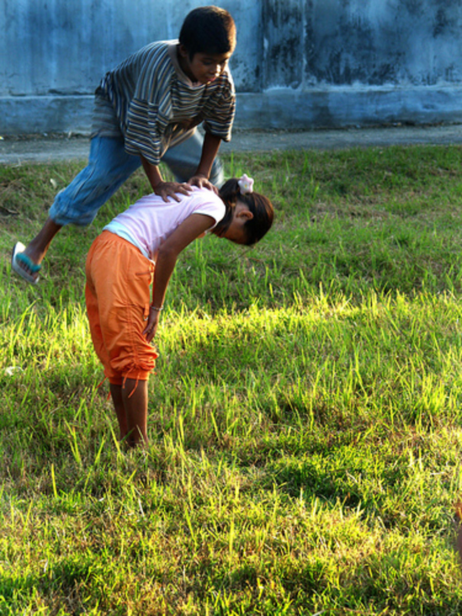 "the ""Luksong Baka"" traditional Pilipino Game"