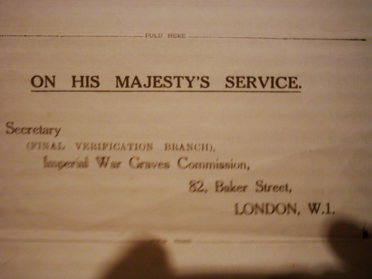 Letter from the War Graves Commission
