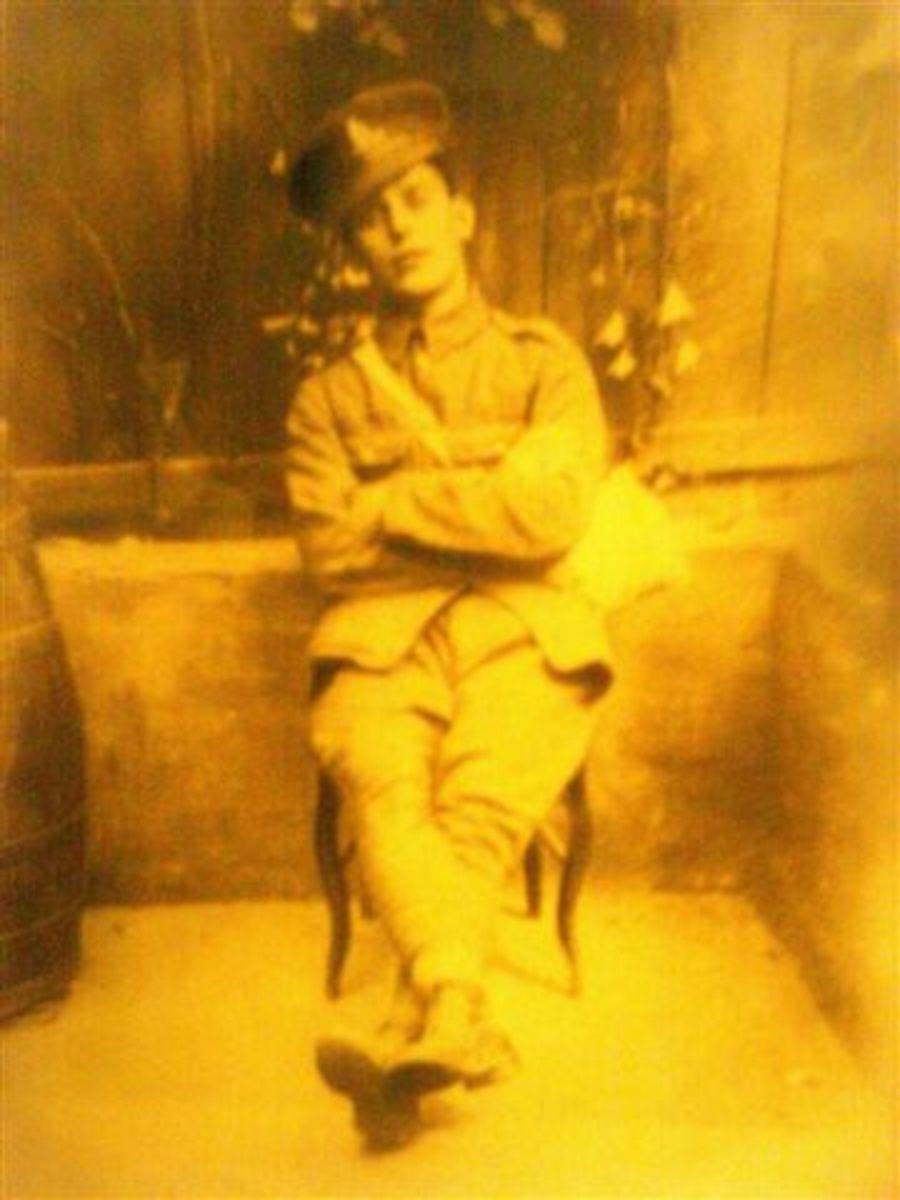 Richard Coles, Ivor's brother, in uniform