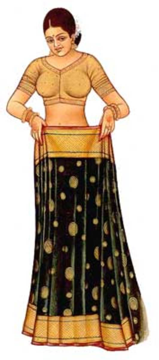 How to Wrap or Tie a Sari - Illustrated Guide