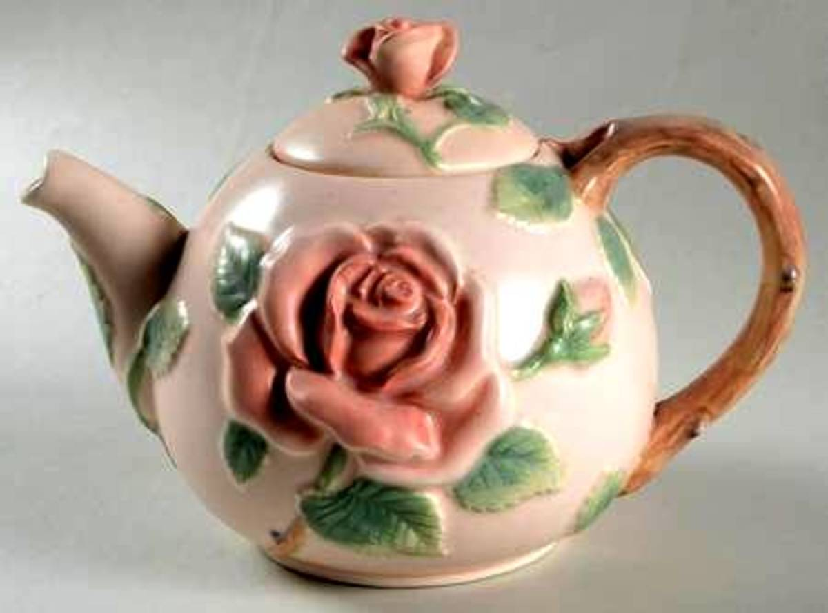 Wonderful texture in this charming teapot.