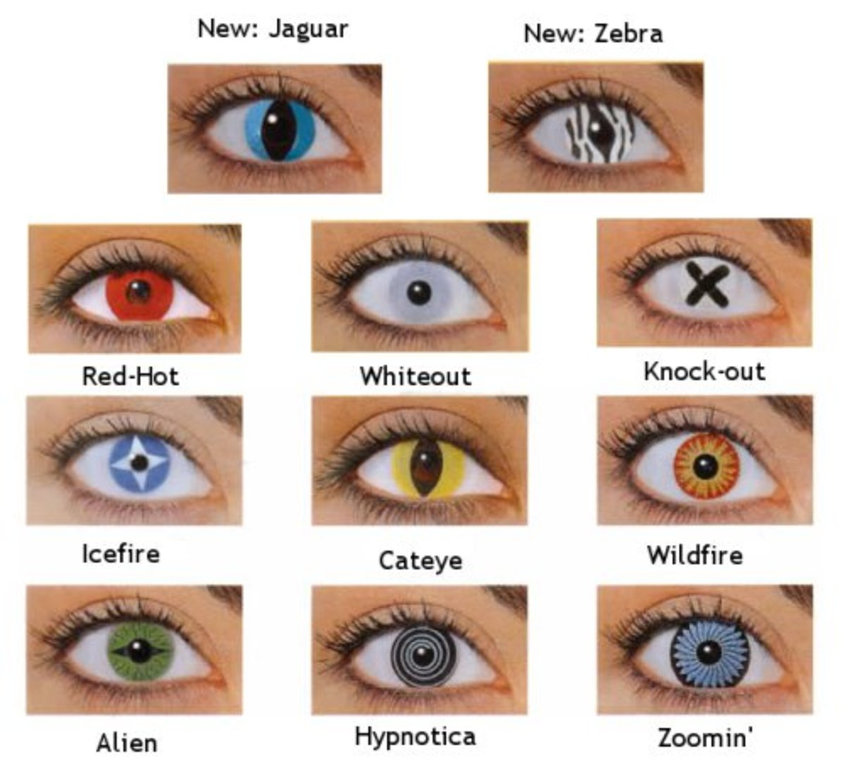 Crazy Halloween Contact Lens (Lenses)