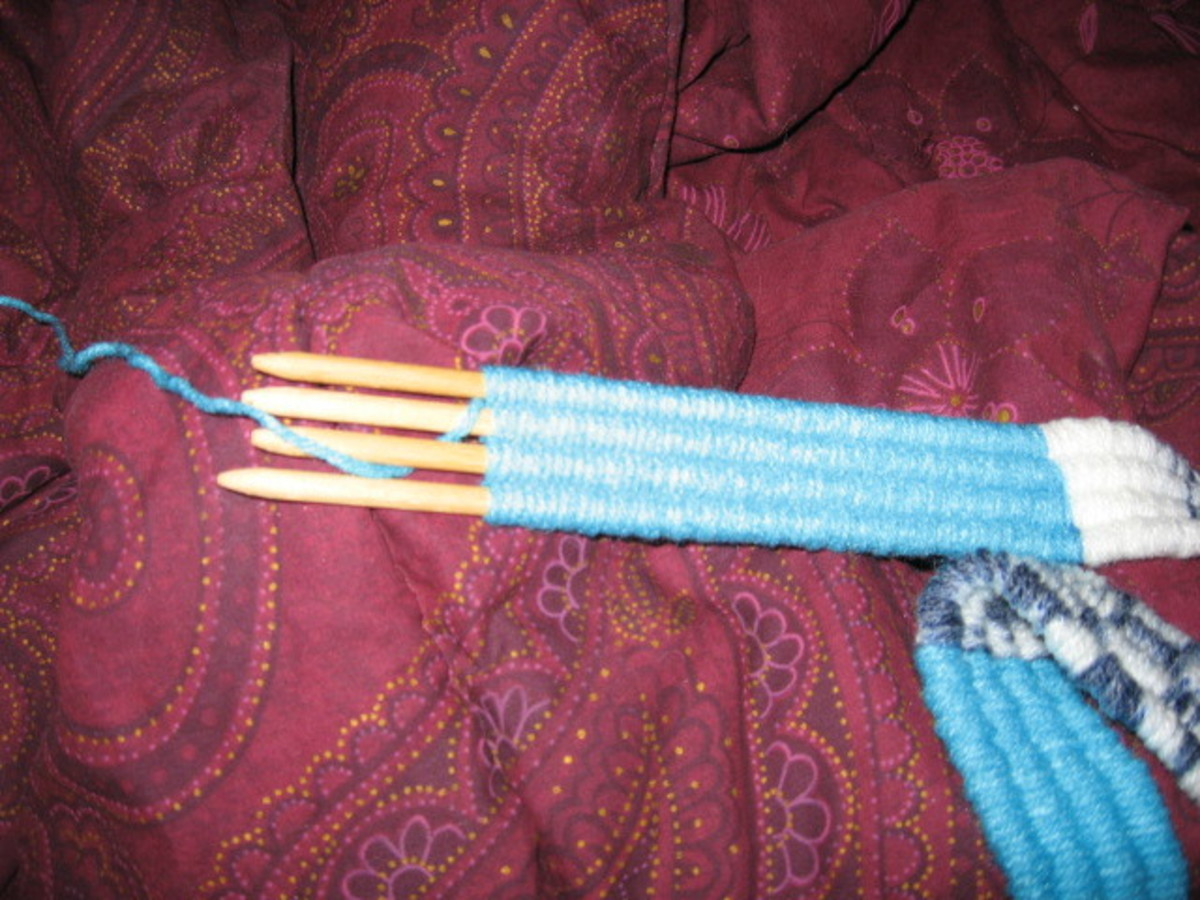 This is my current stickweaving project.