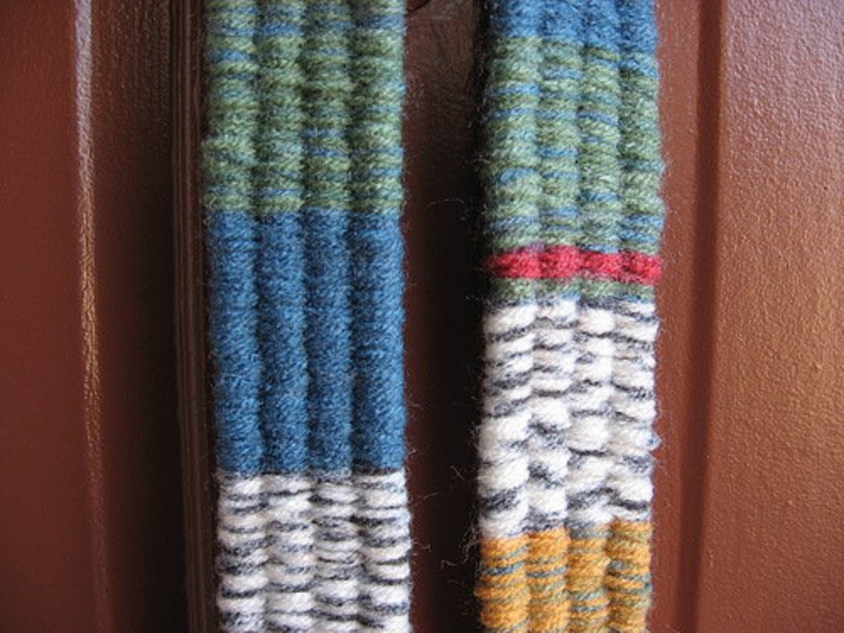 Details of scarf.