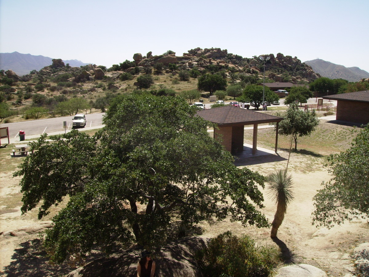 View of Texas Canyon Rest Area From Above