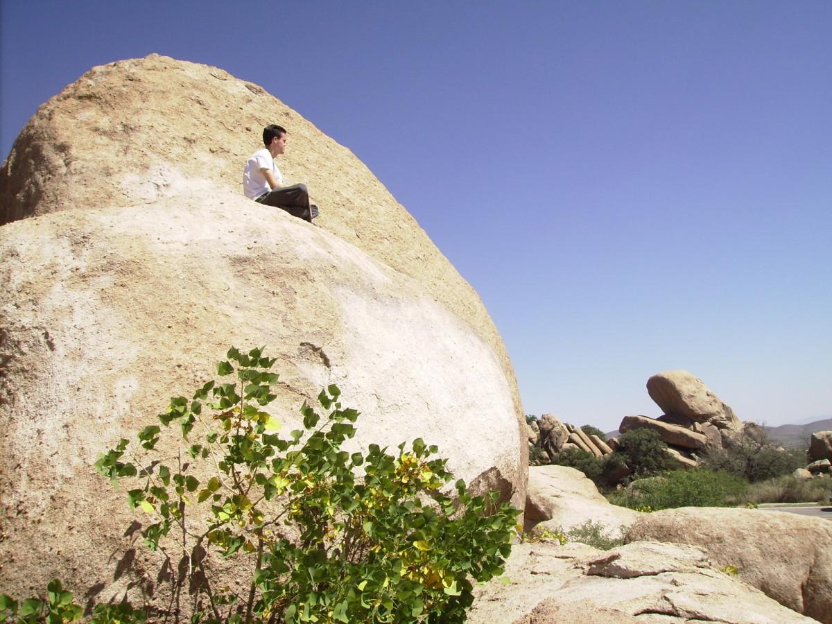 Atop a Boulder in Texas Canyon