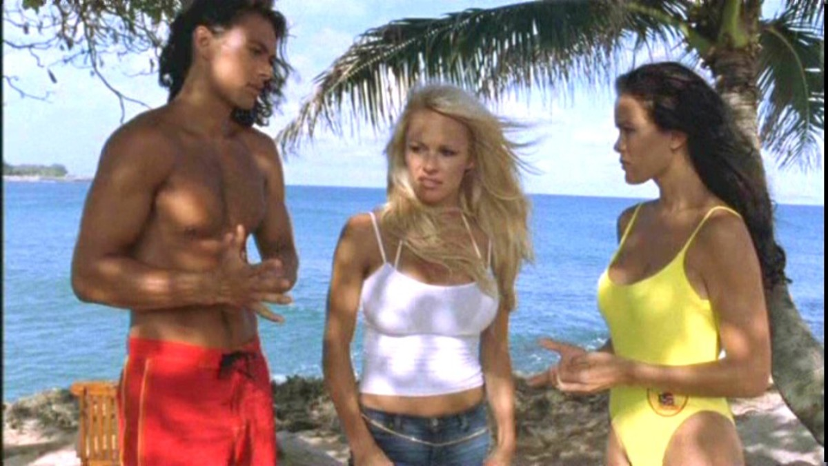 Pamela Anderson plays CJ in Twentieth Century Fox's action movie Baywatch: Hawaiian Wedding - 2003