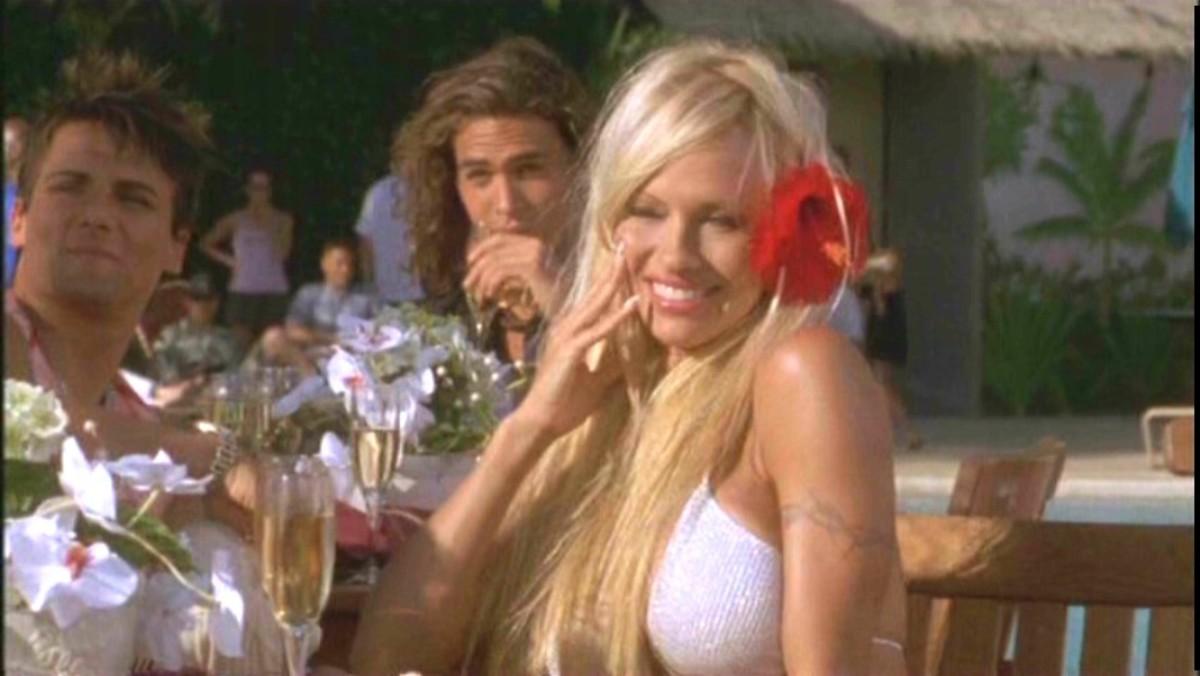 Pamela Anderson plays CJ in Twentieth Century Fox's action movie Baywatch: Hawaiian Wedding - 2003