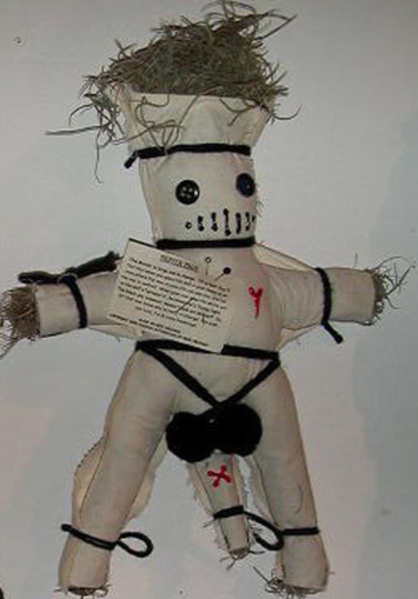 """When your man sees the white pin in the doll's """"private's"""", he knows he's flying right. The black pin, however, means """"Look out Mister!"""" So, let that man know who's really in charge!"""