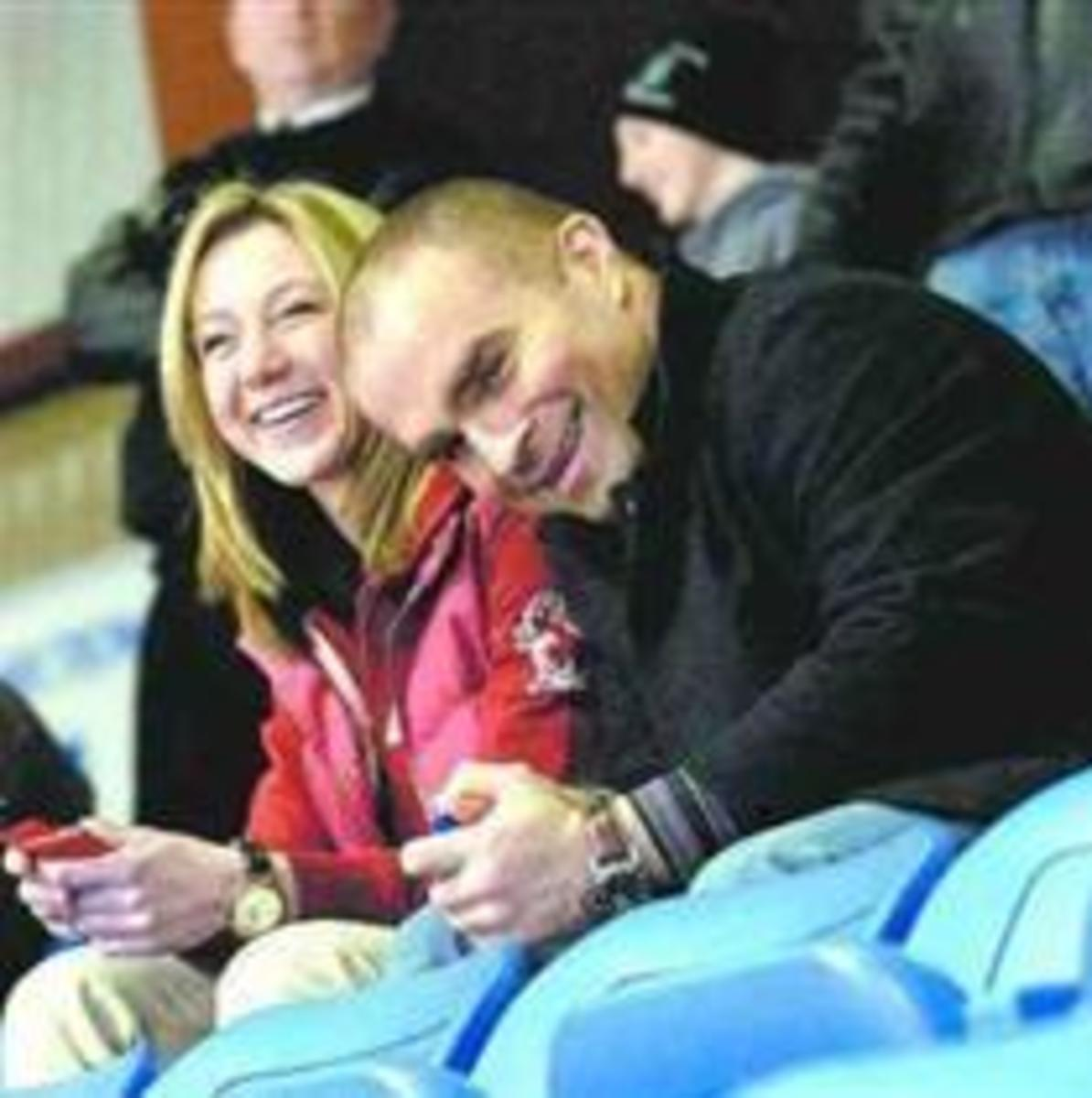 Belinda with her current beau, Toronto Maple Leaf Hockey Star Tie Domi