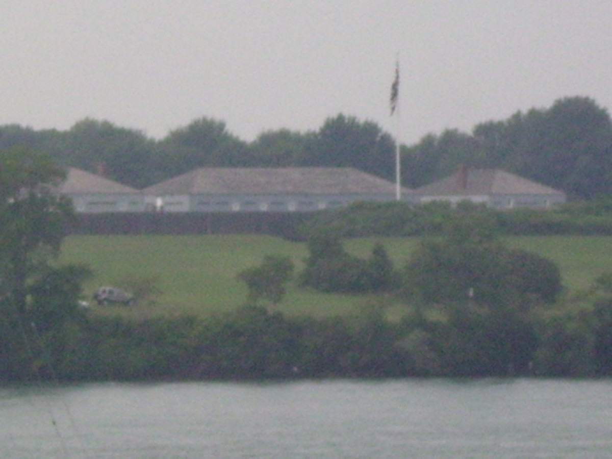 Ft. George a British Fort in Ontario, Canada across the Niagara River from Ft. Niagara