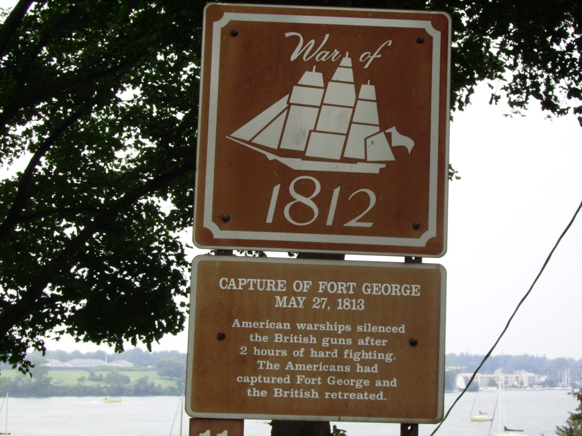View across Niagara River from Youngstown, New York at the historic Britis Ft. George on the Canadian side.  This area was site of much fighting during the War of 1812.