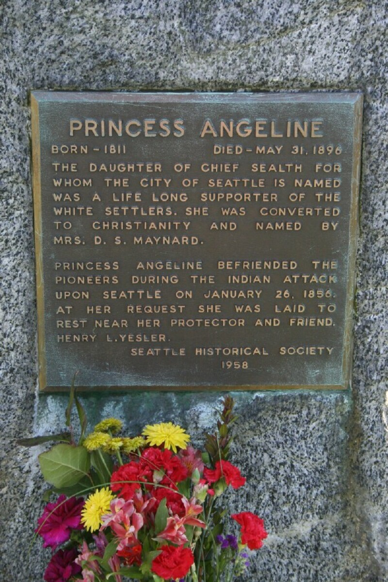 Princess Angeline Grave Marker At Lake View Cemetery