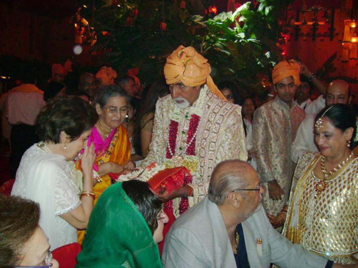 Amitabh Bachan, the grooms father