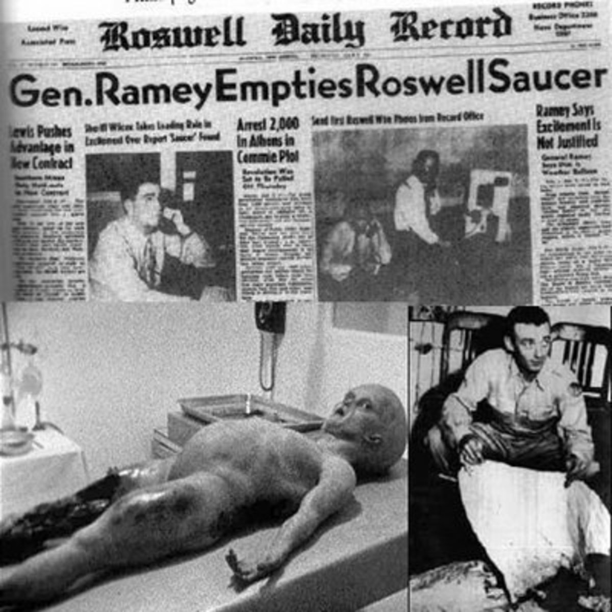 What really happened at Roswell? Did a UFO crash at Roswell. Did the US Government recover a space craft and aliens?