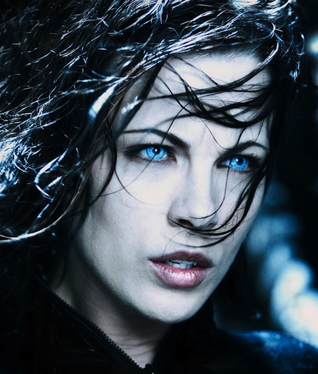 Pale skin and pale blue eyes are the hallmarks of these vampires