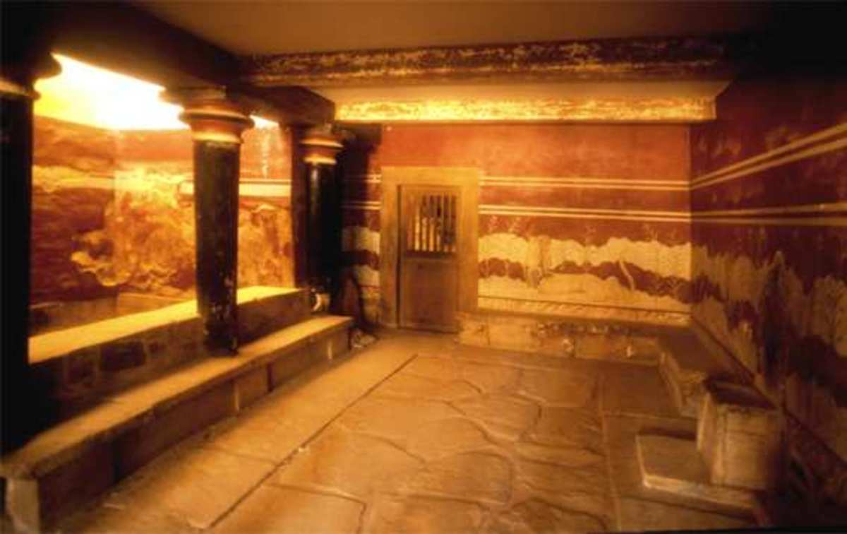Knossos Throne Room (photos public domain)
