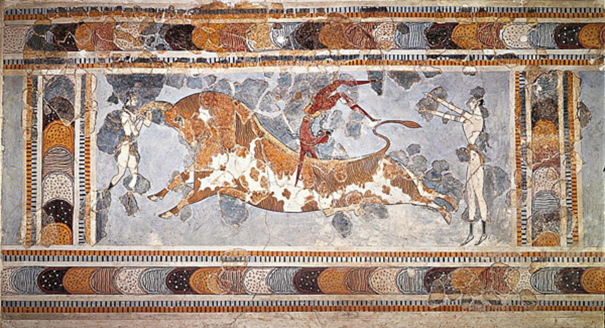 """""""Bull Leaping"""" at the Palace of Knossos"""