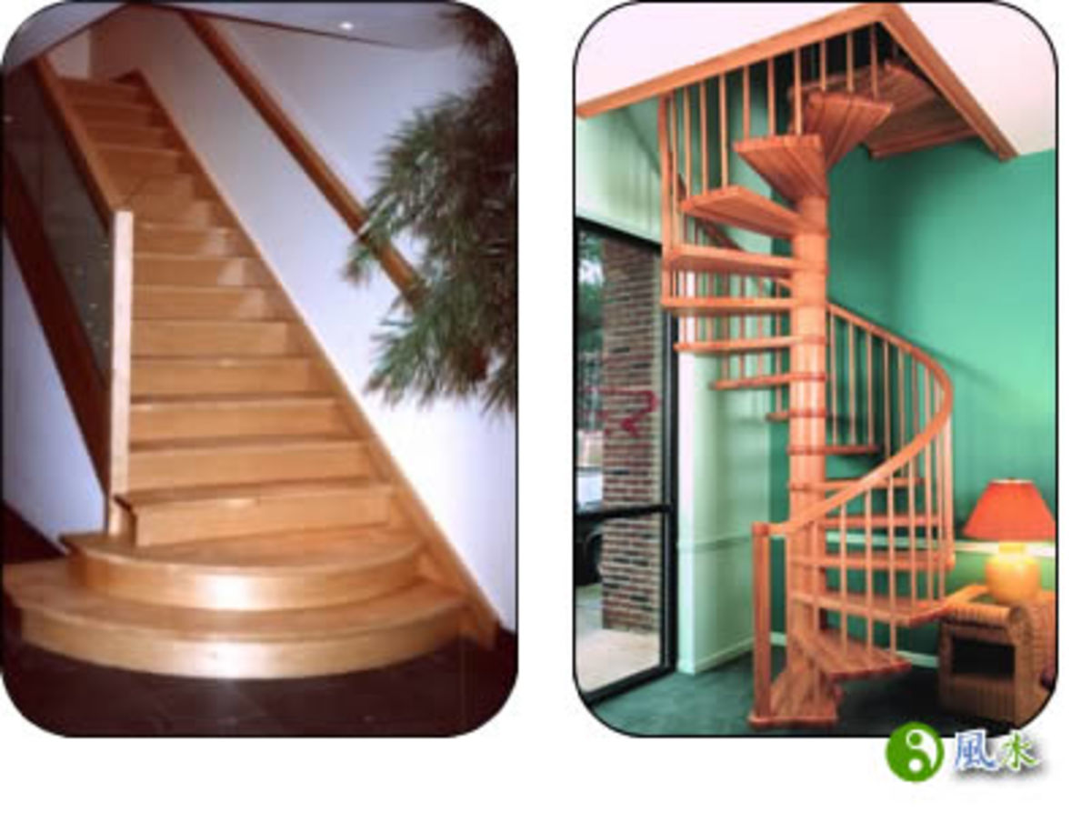 "Spiral staircases are inauspicious because they allow the energy to travel in a ""screwdriver"" motion and pick up too much speed"