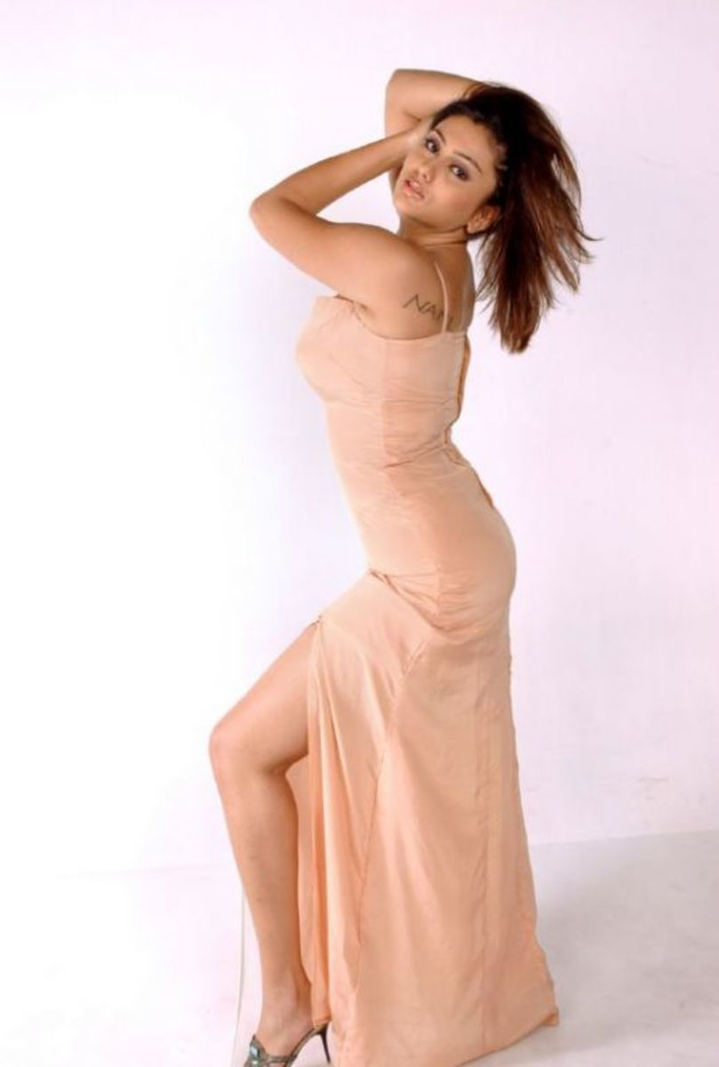Namitha Posing In A Split Gown
